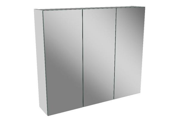 Spiegelschrank - Leuchte L8 - 3 Türen, 70cm breit