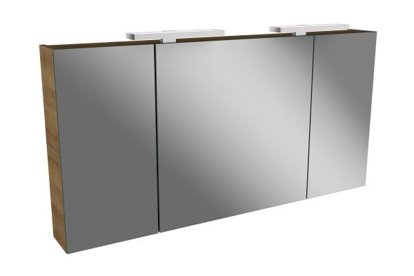 Spiegelschrank - Leuchte L2 LED - 3 Türen, 120cm breit