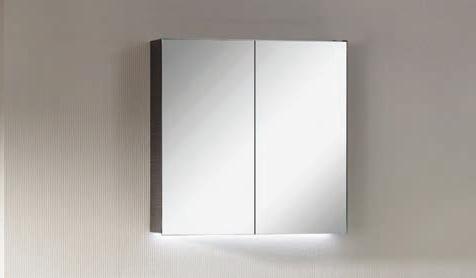 Spiegelschrank - Leuchte L8 - 2 Türen, 60cm breit