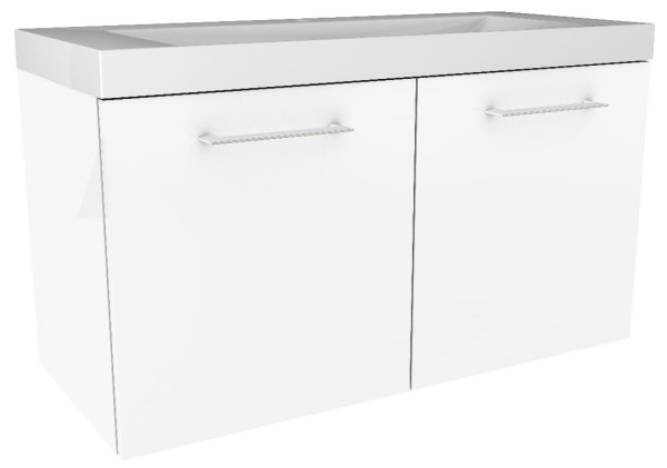 """Waschtisch-Unterschrank """"Lima"""" Weiss 80 cm breit von FACKELMANN"""