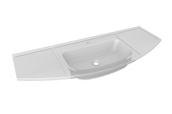 S2.1 Glas-Waschtisch / 120cm LED von Lanzet