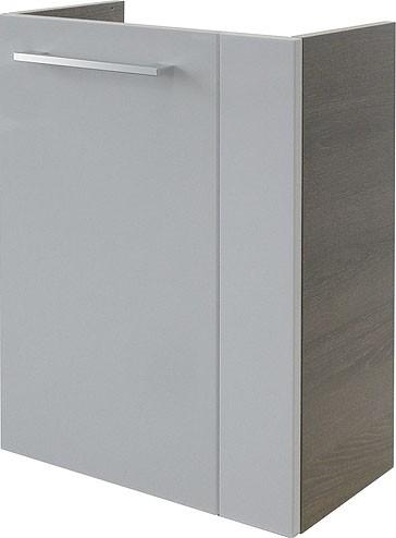 """Mini-Waschtisch-Unterschrank """"RONDO"""" Eiche Cognac /Weiss 44cm breit von FACKELMANN"""