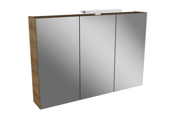 Spiegelschrank - Leuchte L2 LED - 3 Türen, 90cm breit