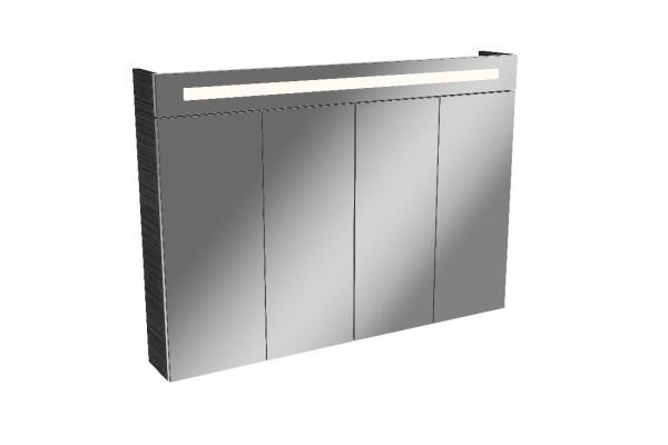 Falttüren-Spiegelschrank TWINDY 110cm breit 4 Türen von FACKELMANN