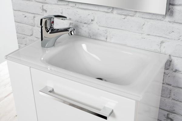 Gäste-WC Glasbecken weiß 45 cm breit von FACKELMANN