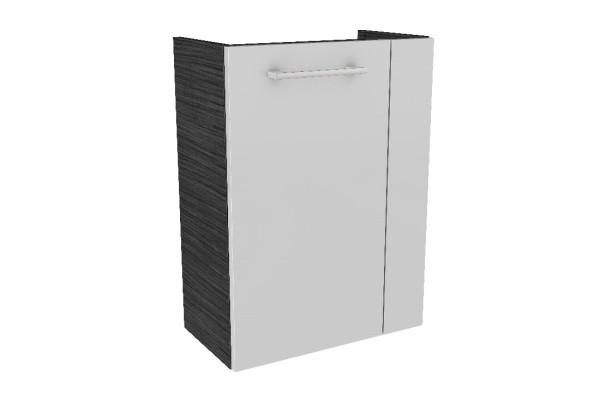 """Gäste-WC Waschtisch-Unterschrank """"LINO"""" Dark Oak/Weiß 44 cm breit von FACKELMANN"""