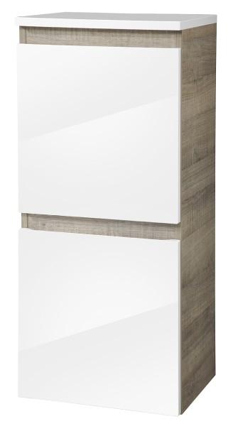 """Midischrank """"PIURO"""" Eiche/Weiss 41 cm breit von FACKELMANN"""