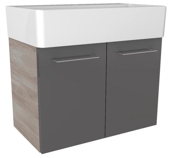"""Waschtisch-Unterschrank """"Lima"""" Steinesche/Basalt Grau 59 cm breit von FACKELMANN"""