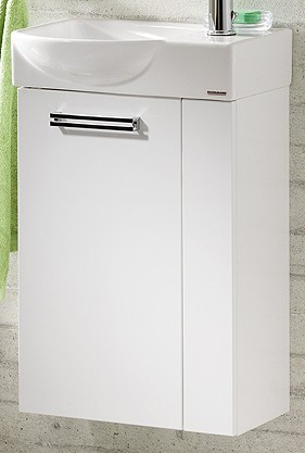 """Gäste-WC Waschtisch-Unterschrank """"COMO"""" Weiss 44 cm breit von FACKELMANN"""