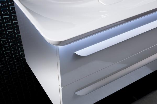 M9 Mineralguss-Waschtisch / 97cm mit LED
