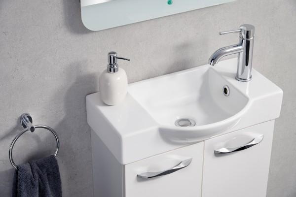 Gäste-WC Keramikbecken 55 cm breit von FACKELMANN