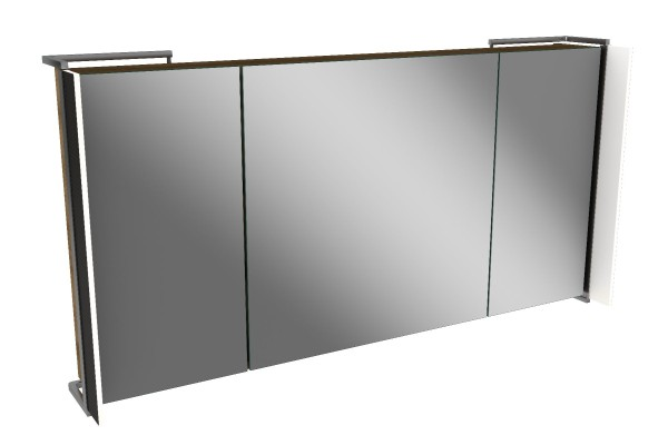 Spiegelschrank - Sidewing - 3 Türen, 120cm breit