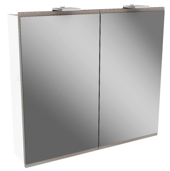 """Spiegelschrank """"Lima"""" Weiss/Steinesche 80 cm breit von FACKELMANN"""