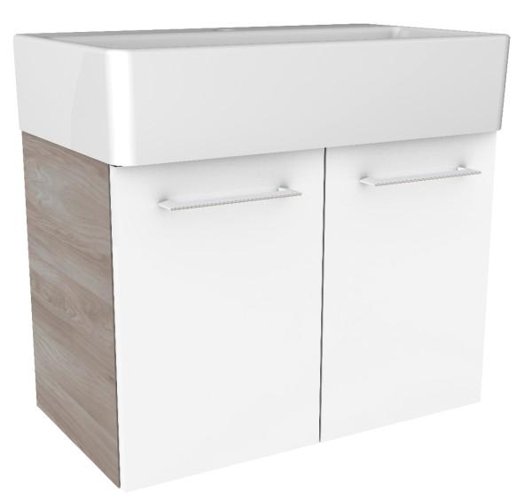 """Waschtisch-Unterschrank """"Lima"""" Steinesche/Weiß 59 cm breit von FACKELMANN"""
