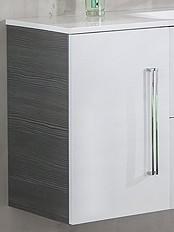 """Waschtisch-Unterbauschrank """"LUGANO"""" Pinie/Weiss 35 cm breit von FACKELMANN"""