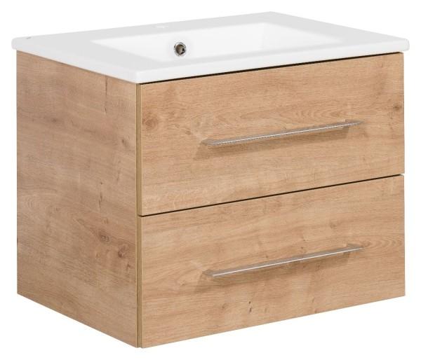 """Waschtisch-Unterschrank mit Becken Set """"B.perfekt"""" Ast-Eiche 60 cm breit von FACKELMANN"""
