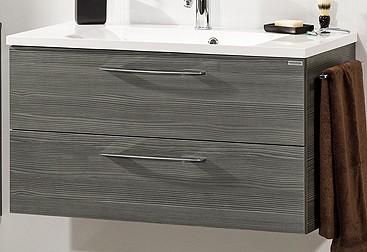 """Waschtisch-Unterschrank """"VADEA"""" Pinie-Anthrazit 90 cm breit von FACKELMANN"""