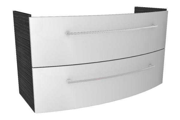 """Waschtisch-Unterschrank """"LINO"""" Dark Oak/Weiß 106,5cm breit von FACKELMANN"""