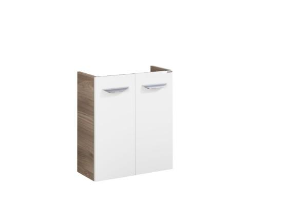 """Mini-Waschtischunterschrank DS """"Luxor"""" Steinesche/Weiß 55 cm breit von FACKELMANN"""