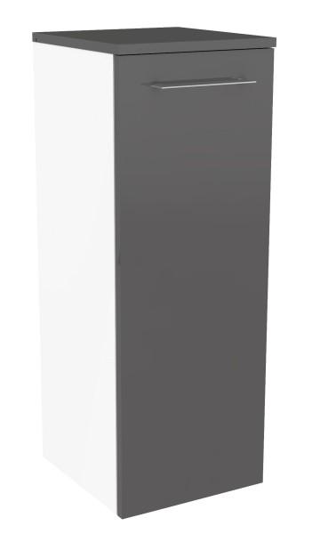 """Midischrank """"Lima"""" Weiss/Basalt Grau 30,5 cm breit von FACKELMANN"""