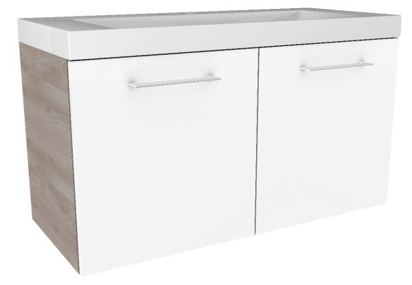 """Waschtisch-Unterschrank """"Lima"""" Steinesche/Weiß 80 cm breit von FACKELMANN"""