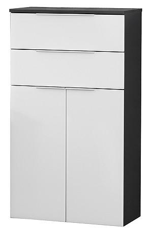 """Midischrank """"KARA"""" Anthrazit/Weiss 61 cm breit von FACKELMANN"""