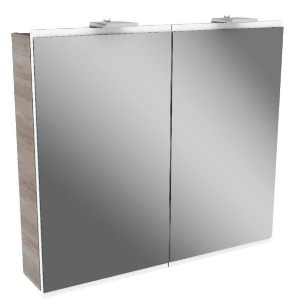 """Spiegelschrank """"Lima"""" Steinesche/Weiß 80 cm breit von FACKELMANN"""