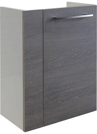 """Mini-Waschtisch-Unterschrank """"RONDO"""" Weiss/Eiche Cognac 44cm breit von FACKELMANN"""