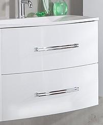 """Waschtisch-Unterschrank """"LUGANO"""" Weiss 80 cm breit von FACKELMANN"""