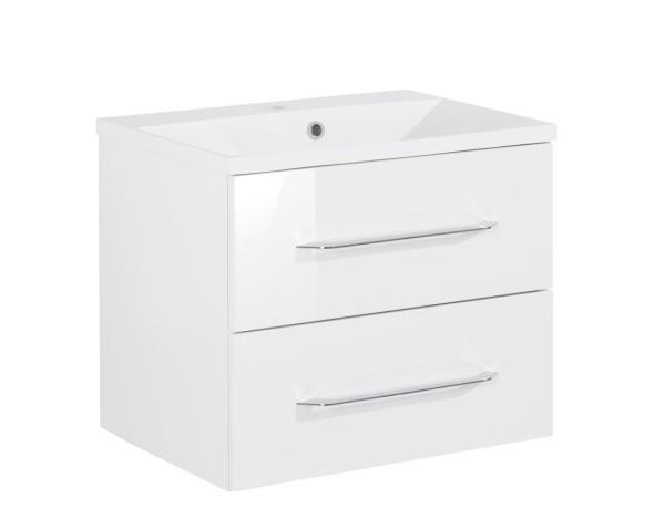 """Waschtisch-Unterschrank mit Becken Set """"B.clever"""" Weiss 60 cm breit von FACKELMANN"""