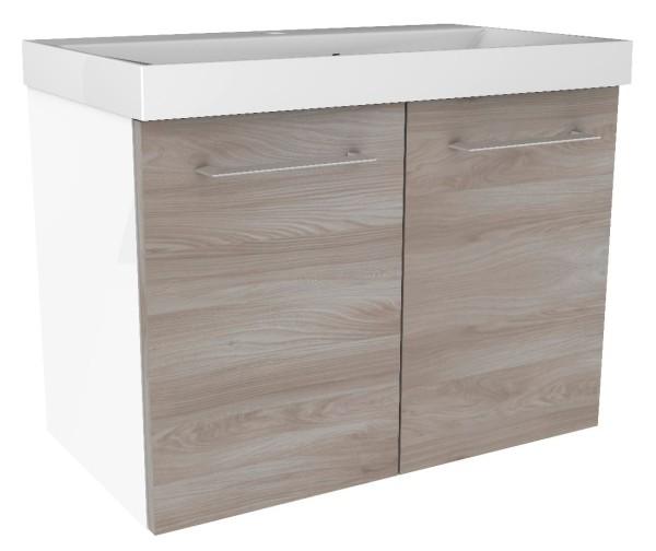 """Waschtisch-Unterschrank """"Lima"""" Weiss/Steinesche 60 cm breit von FACKELMANN"""