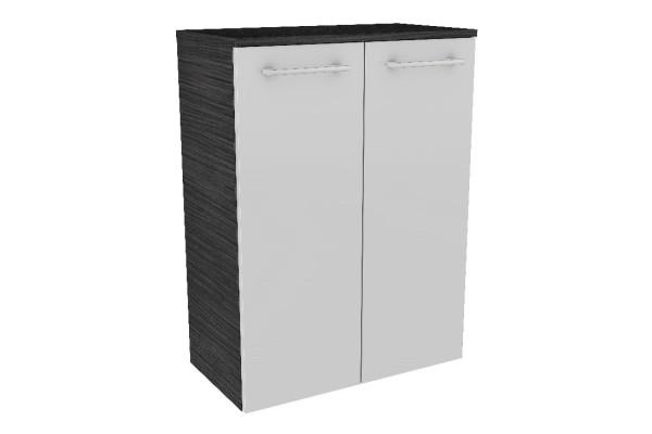 """Doppel-Midischrank """"LINO"""" Dark Oak/Weiß 60cm breit von FACKELMANN"""