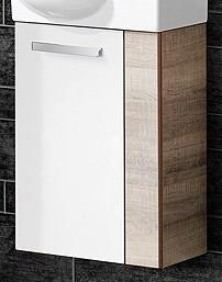 """Gäste-WC Waschtisch-Unterschrank """"A-VERO"""" Eiche/Weiss 44 cm breit von FACKELMANN"""