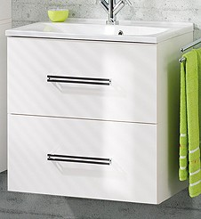 """Waschtisch-Unterschrank """"COMO"""" Weiss 60 cm breit von FACKELMANN"""
