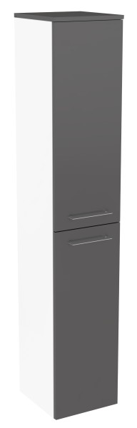 """Hochschrank """"Lima"""" Weiss/Basalt Grau 30,5 cm breit von FACKELMANN"""
