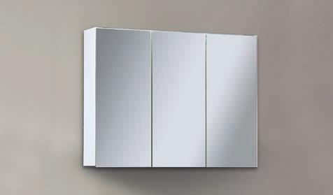 Spiegelschrank - Leuchte L8 - 3 Türen, 80cm breit
