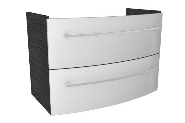 """Waschtisch-Unterschrank """"LINO"""" Dark Oak/Weiß 85cm breit von FACKELMANN"""