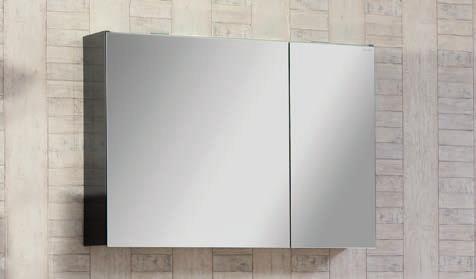 Spiegelschrank - Leuchte L8 - 2 Türen, 90cm breit