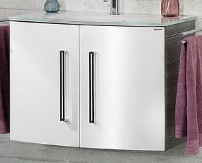 """Waschtisch-Unterschrank """"LUGANO"""" Pinie/Weiss 80 cm breit von FACKELMANN"""