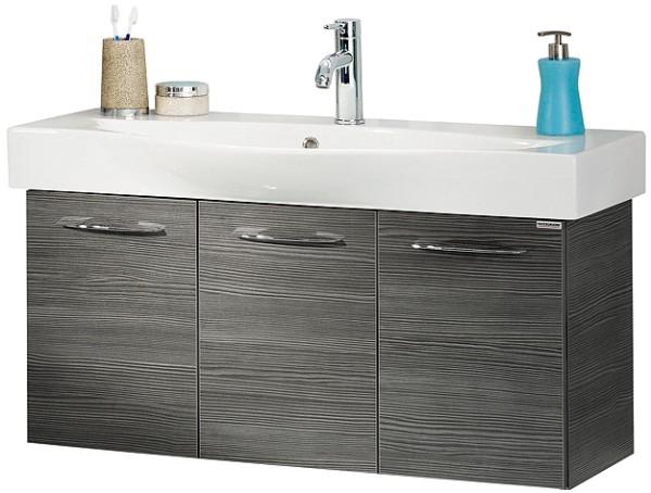 """Waschtisch-Unterschrank """"VADEA"""" Pinie-Anthrazit 94 cm breit von FACKELMANN"""
