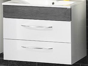 """Waschtisch-Unterschrank """"SCENO"""" Weiss/Pinie 80 cm breit von FACKELMANN"""