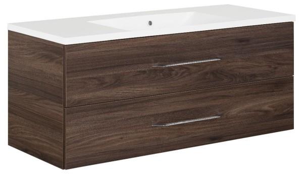 """Waschtisch-Unterschrank mit Becken Set Single """"B.clever"""" Ulme Madera 120 cm breit von FACK"""
