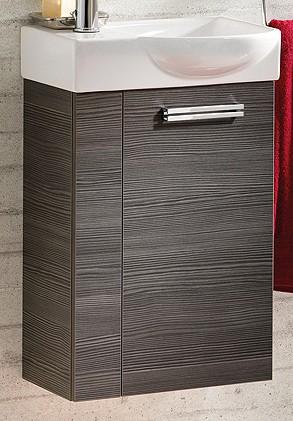 """Gäste-WC Waschtisch-Unterschrank """"COMO"""" Pinie-Anthrazit 44 cm breit von FACKELMANN"""