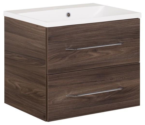"""Waschtisch-Unterschrank mit Becken Set """"B.clever"""" Ulme Madera 60 cm breit von FACKELMANN"""