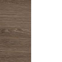K3 Gäste-WC Waschtischunterschrank 44cm rechts Weiß/Eiche Maron