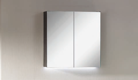 Spiegelschrank - Leuchte L5 - 2 Türen, 60cm breit