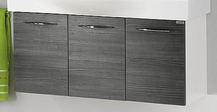 """Waschtisch-Unterschrank """"VADEA"""" Weiß Glanz/Pinie-Anthrazit 94 cm breit von FACKELMANN"""