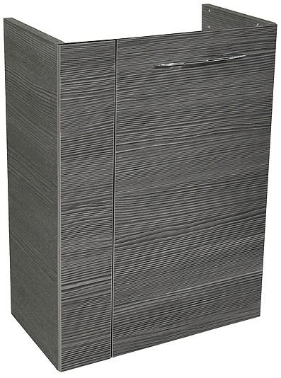 """Gäste-WC Waschtisch-Unterschrank """"VADEA"""" Pinie-Anthrazit 44 cm breit von FACKELMANN"""