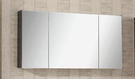 Spiegelschrank - Leuchte L8 - 3 Türen, 120cm breit