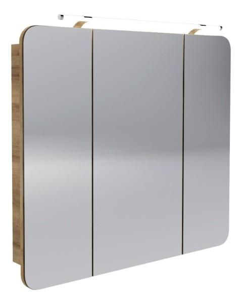 """Spiegelschrank """"Milano"""" Ast-Eiche 90 cm breit von FACKELMANN"""